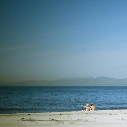 Beachgoers.